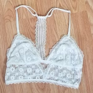 Victoria's Secret White Lace Racerback Bralette